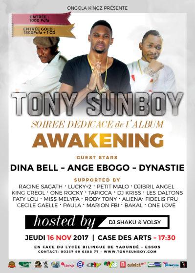tony sunboy concert showcase awakening